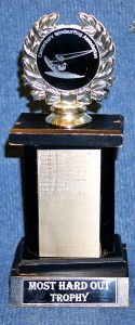 Most HardOut Trophy - Awarded to the sailor going hard.....